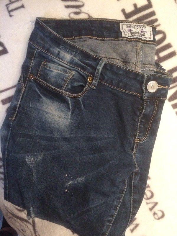 jean destroy Bisou D'Eve de marque Bisou D'Eve. Taille 42 / 14 / XL à 7.50 € : http://www.vinted.fr/mode-femmes/jeans-troues/54205432-jean-destroy-bisou-deve.