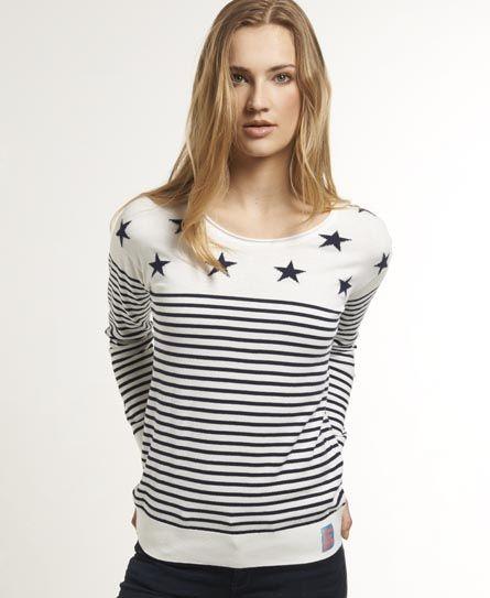 DESIGN - T-shirt froncé à encolure haute et rayures - MultiAsos 0PKv4B5