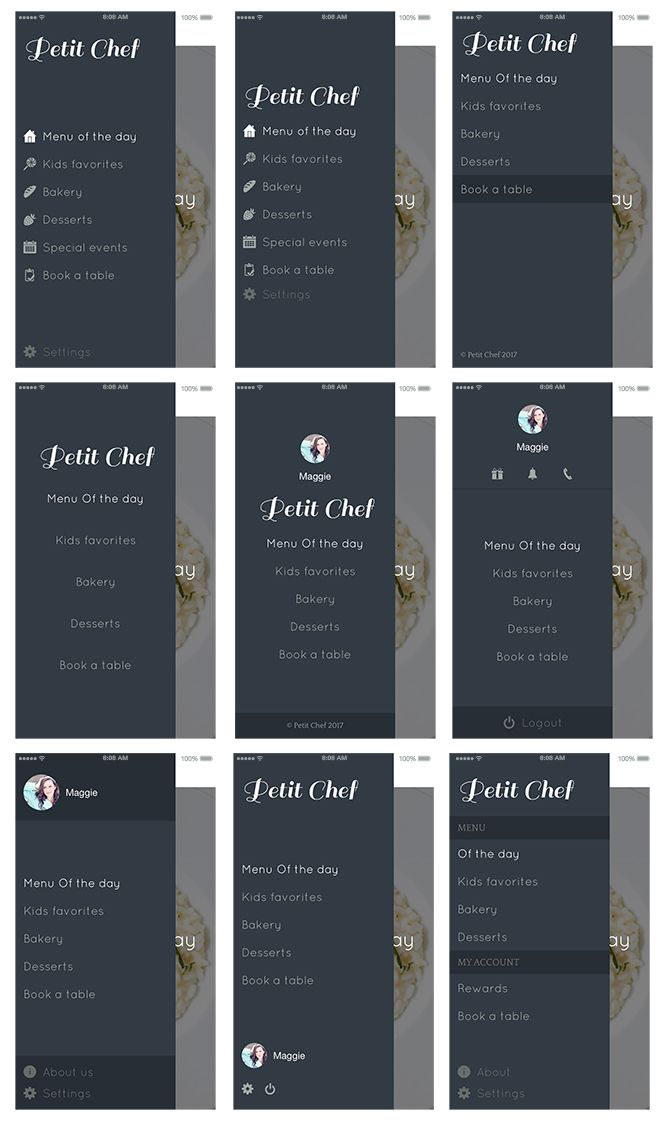 What's new with GoodBarber 4.0? → Menu and secondary navigation (several possible declinations with the Swipe menu)