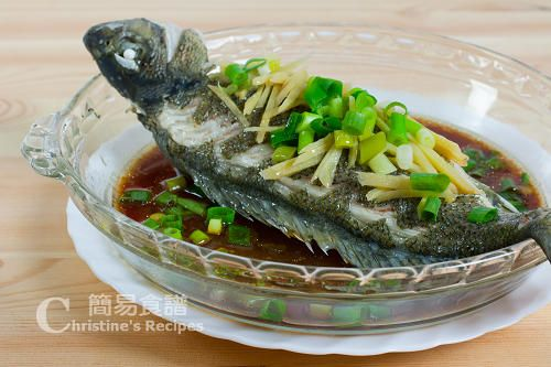 Steamed whole fish with cleaning tip rice noodle for Steamed whole fish