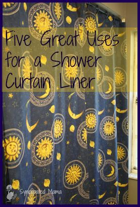 Syncopated Mama: 5 Great Uses for a Cheap Shower Curtain Liner