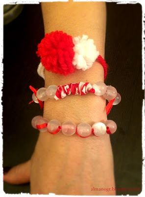 March bracelets #marchbracelets #handmadebracelets #redandwhite #almanogr