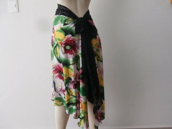 Milonga Tango & Salsa Skirt  fits US  4 to 8  by COCOsDANCEWEAR