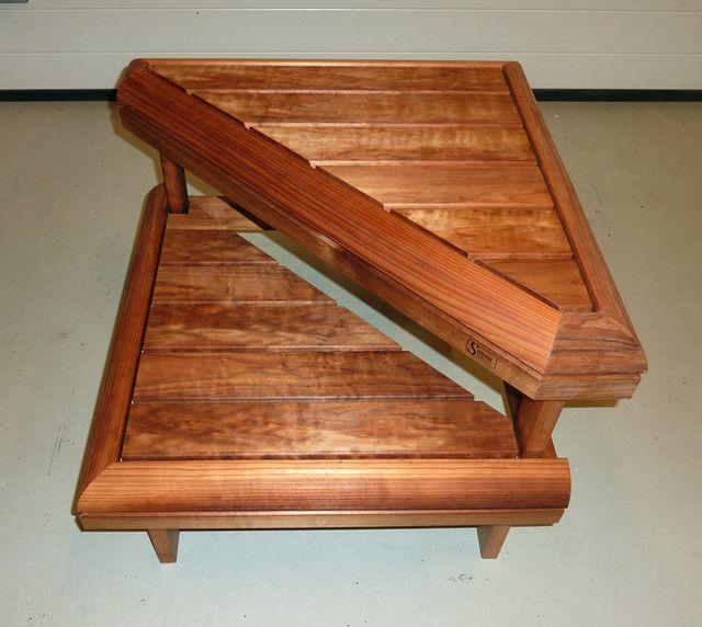 UUTUUS. 2-askelmainen saunajakkara pieneen tilaan.