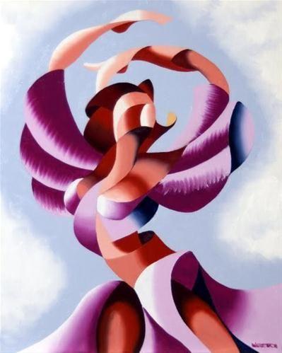 """Mark Webster - Plexus 2 - Abstract Figurative Gesture Oil Painting"" - Original Fine Art for Sale - © Mark Webster"