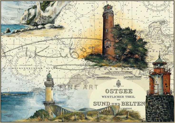 Leuchtturm Darßer Ort und Leuchtfeuer Vierendehlgrund, Ostsee Germany