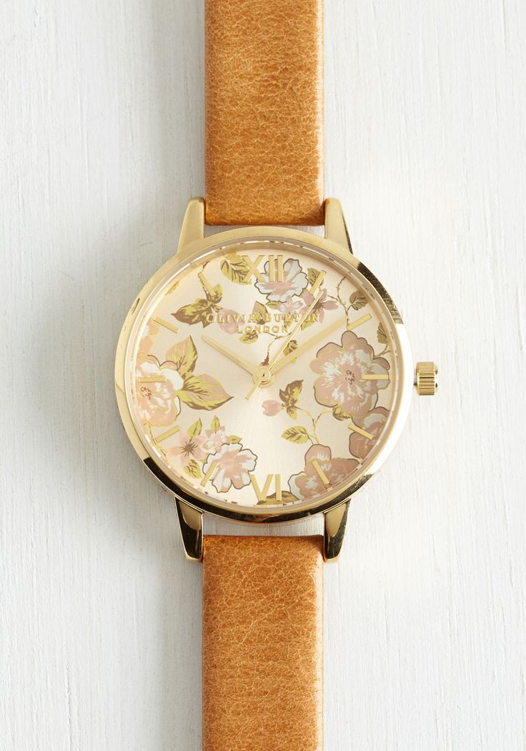 Olivia Burton Rhythm and Time Watch by Olivia Burton - Tan, Floral, Special Occasion, Wedding, Graduation, Bridesmaid, Bride, Boho, Luxe, Statement, Darling, Best, International Designer