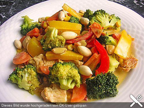 Hähnchen - Gemüse - Kokospfanne