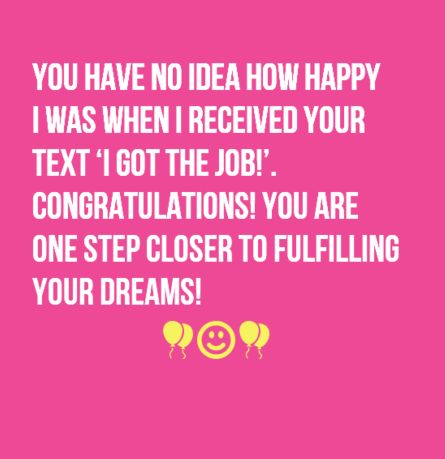 Congratulations on New Job | WishesGreeting