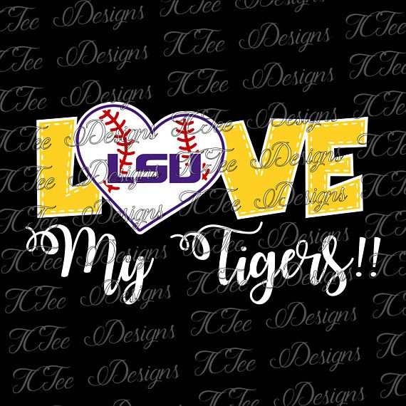Hey, I found this really awesome Etsy listing at https://www.etsy.com/listing/527748497/love-my-tigers-lsu-tigers-baseball