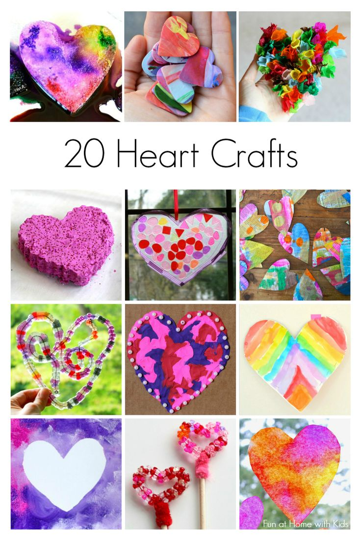 20 Heart Crafts for Kids from Fun at Home with Kids