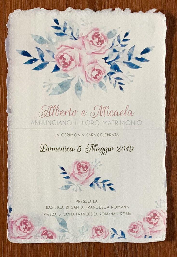 Partecipazioni Di Nozze Matrimonio Carta Amalfi Roma Partecipazioni Nozze Nozze Matrimonio Carta