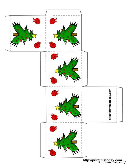 Новогодние коробочки. Шаблоны для распечатки (11) (541x700, 116Kb)