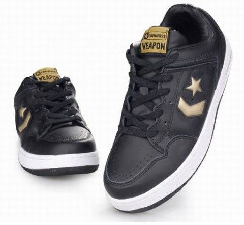 converse basketball shoes black gold  #It is good for running #fashion #nice #sports #men's shoes #basketball shoes