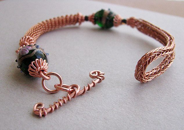 Artistic Life: Story about Viking Knit Coiled Copper Bracelet