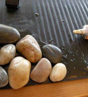 DIY pebble mat
