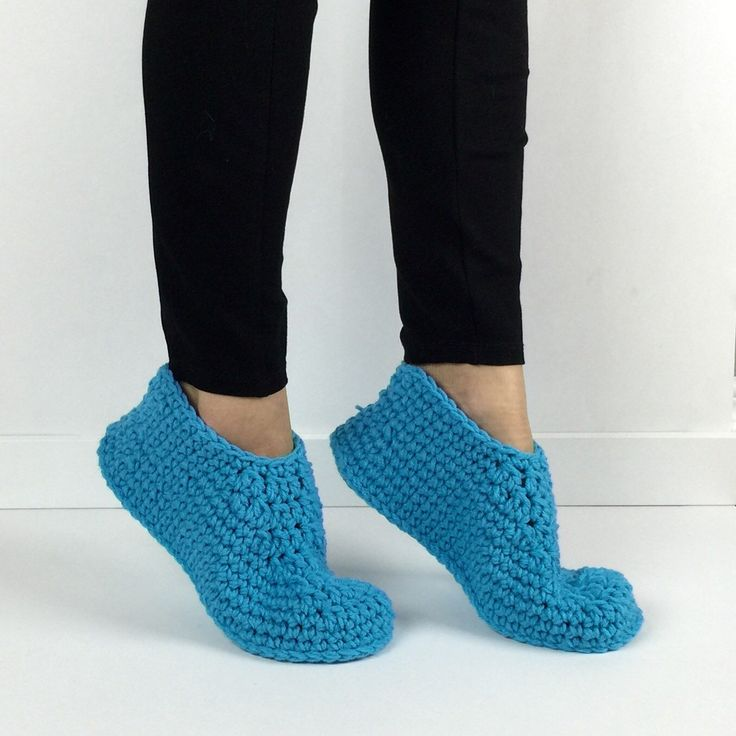 Crochet turquoise slippers knitted slippers crochet for Minimalist house slippers