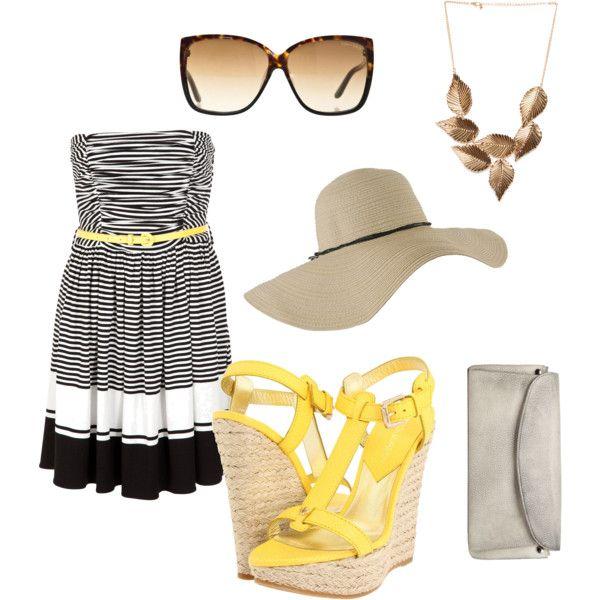 Beach club outfit.