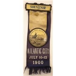 1900 Montana BPOE Atlantic City Souvenir Ribbon