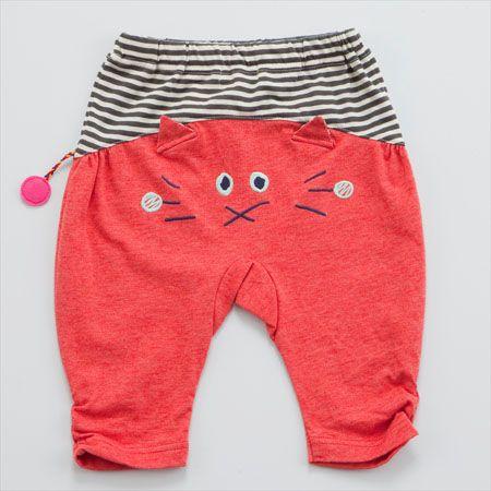 must sew this for my baby boy  FunnyFace ネコサルエルパンツ