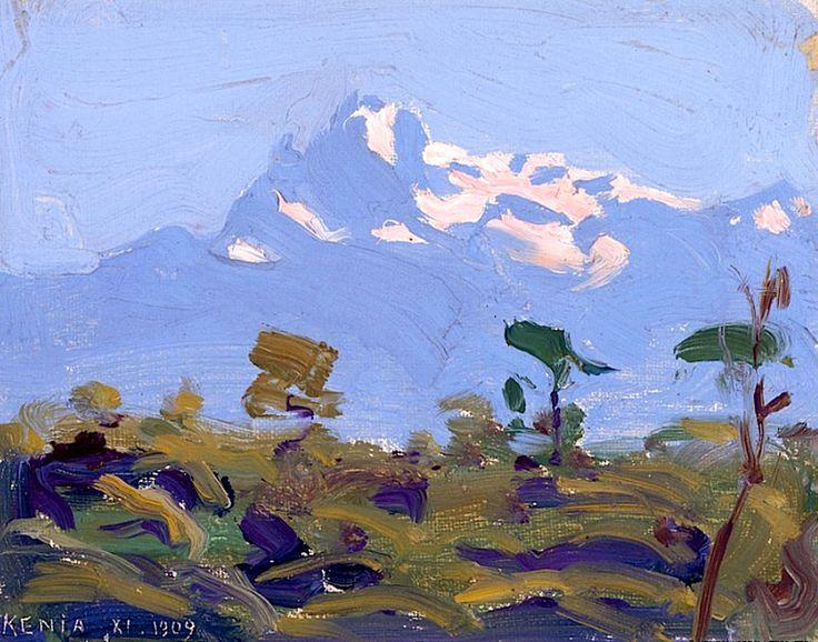 """Mt. Kenya"", Akseli Gallen-Kallela, 1909-1910"