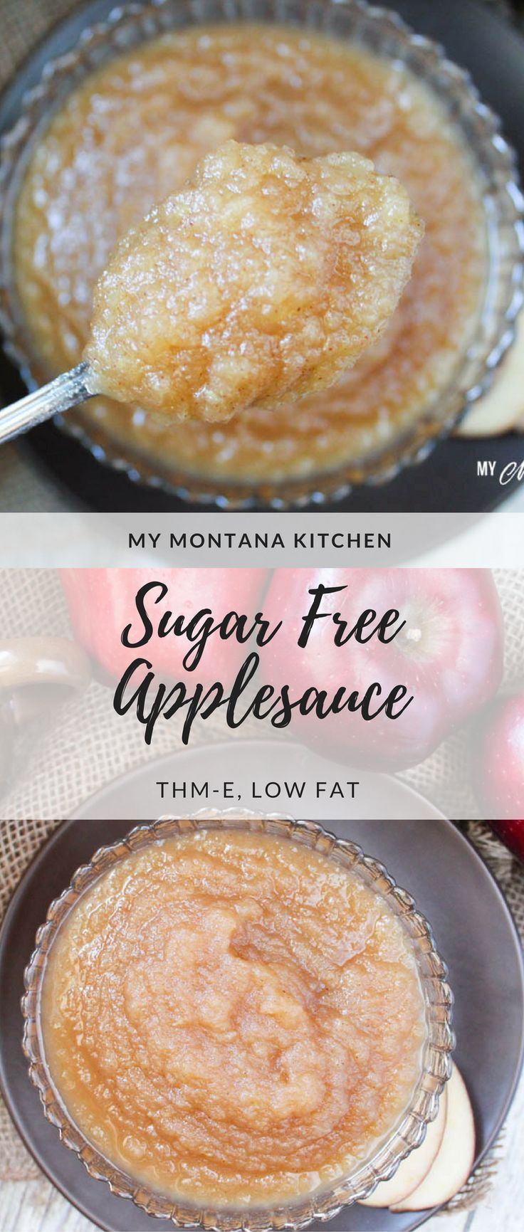Sugar Free Applesauce (THM-E) #trimhealthymama #thm #thme #healthycarbs # sugarfree #applesauce