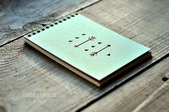Notebook (Sketchbook) with a carved geometry native pattern (small size)
