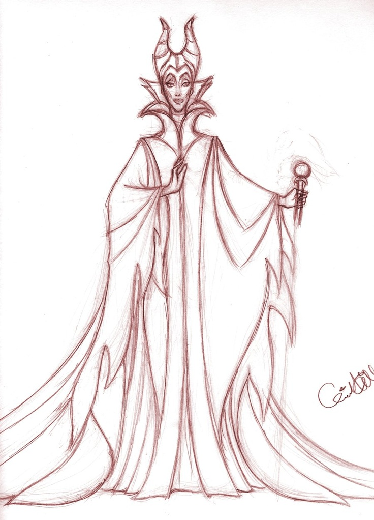 Maleficent sketch | disney - sleeping beauty | Pinterest ...