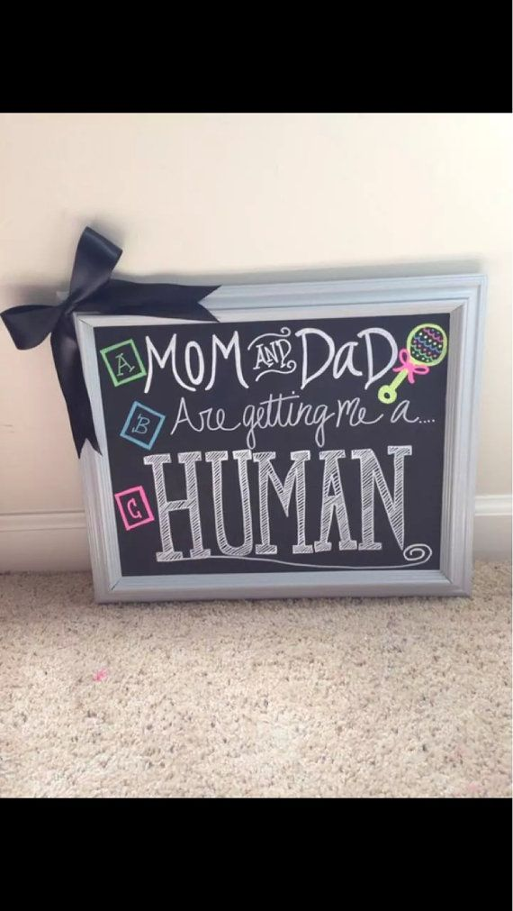 Pregnancy Announcement Chalkboard Sign For Dog To Stand With on – Etsy Baby Announcements