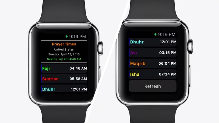 Daily Salat   Islamic Prayer Times Daily Salat is specifically designed for the Apple Watch and for the Apple iPhone. The app will automatically update the prayer... http://watchaware.com/watch-apps/daily-salat-islamic-prayer/980273403