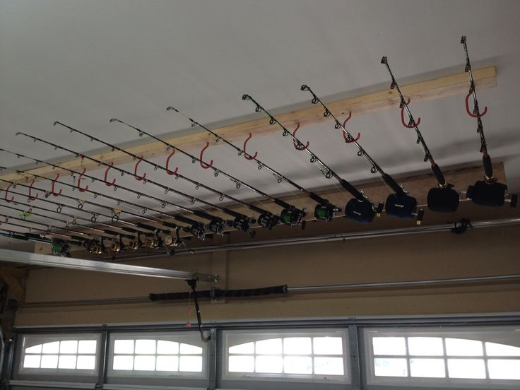 fishing rod hooks for garage | garage rod holders - Page 2 - The Hull Truth - Boating and Fishing ...