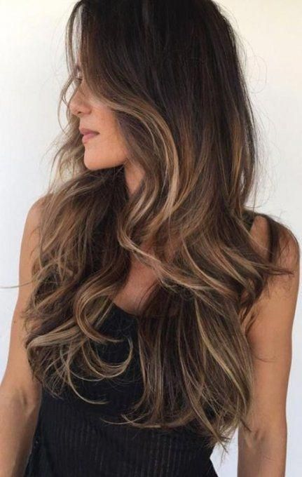 64+  Ideas for hair highlights and lowlights brown balayage #hair #winterhaircol…