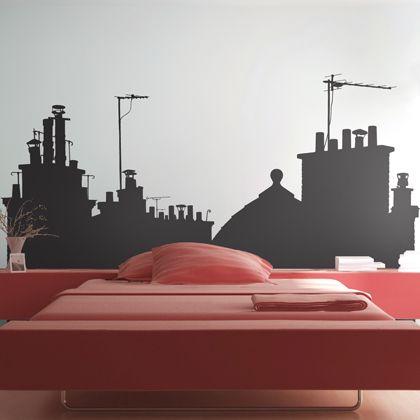 Créez un nouveau décor grâce à ce sticker mural et profitez d'une vue imprenable sur les toits de Paris.