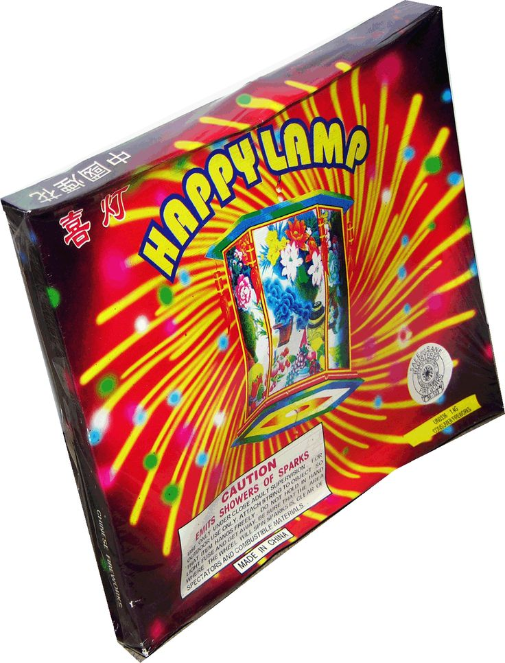 Happy Lamp Large - North Central Industries - www.greatgrizzly.com - MUNCIE INDIANA WHOLESALE FIREWORKS •Category: Novelties •Item Number: 300 •Package Contents: 72 •Weight: 36lbs Brand Name: Shogun