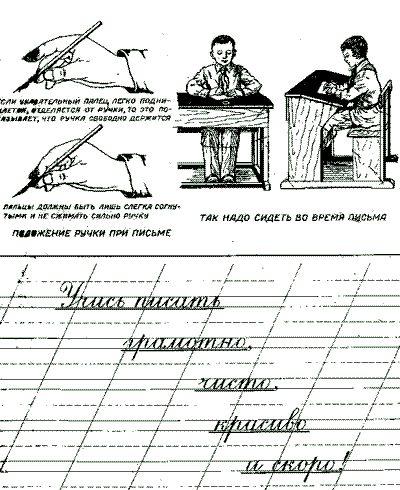 Кто позаботится о том, чтобы ребенок писал красиво, быстро и грамотно? Правильная постановка руки при письме
