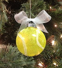 Sparkling Tennis Ball Ornament