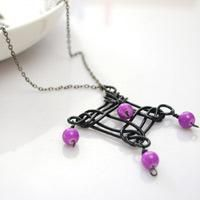 Homemade Necklaces DIY - Design Your Own Necklace Pendant with Aluminum Wire and Stone Beads