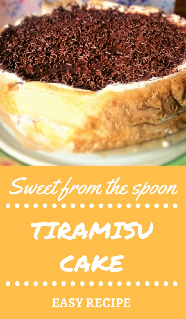 Tiramisu cake | A delicious Italian dessert from the spoon! I've made here my interpretation of this traditional Italian dessert! Here I haven't included eggs, it's absolutely eggfree, with cream cheese and yogurt and lady fingers! Perfect for any occasion! I bet your guests will love this!