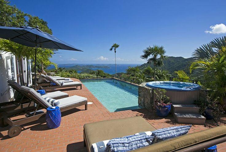 Pool, View, Spa St John Rental Villa Mystic Ridge, St John USVI