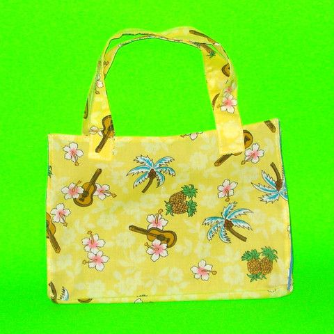 Yellow Ukulele Hawaiian Purse - Mookie Designs