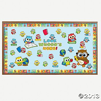 back to school bulletin boards | Welcome Back Owl Bulletin Board Set - Oriental Trading