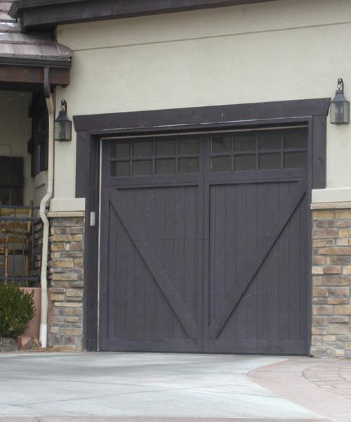 Dark Stained Garage Door Doors Pinterest