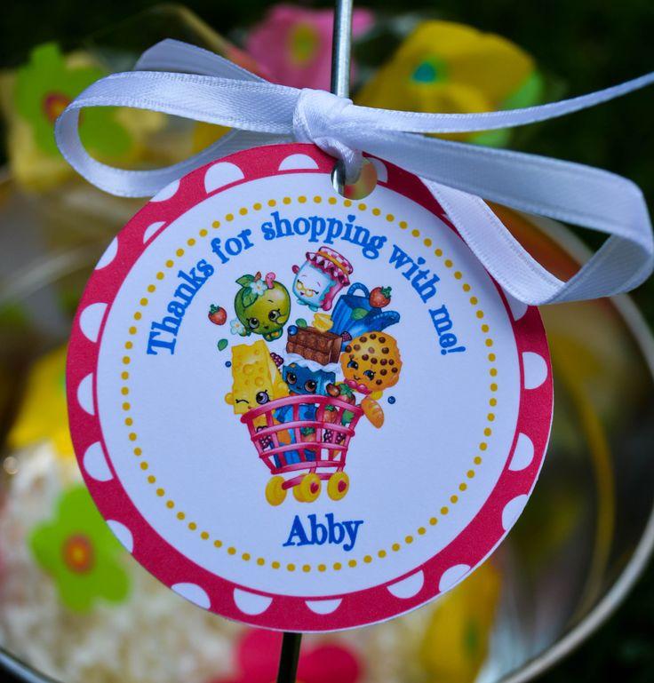 Shopkins Favor Tags Shopkins Thank You Tags Shopkins Gift Tags Shopkins Birthday Favors Shopkins Birthday Decorations Shopkins Decor by 3TrucksAndATiara on Etsy https://www.etsy.com/listing/449800988/shopkins-favor-tags-shopkins-thank-you