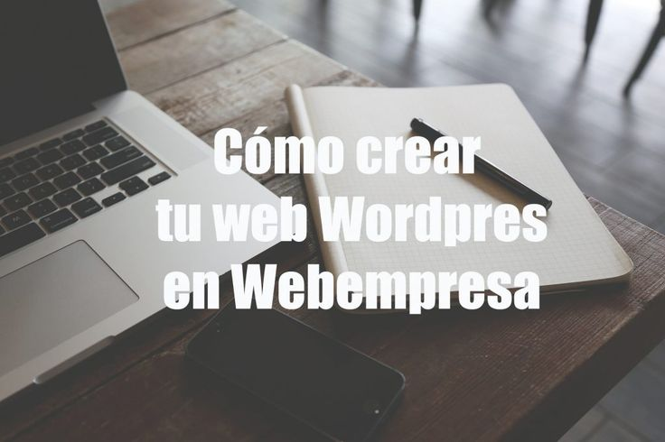Crear web wordpress