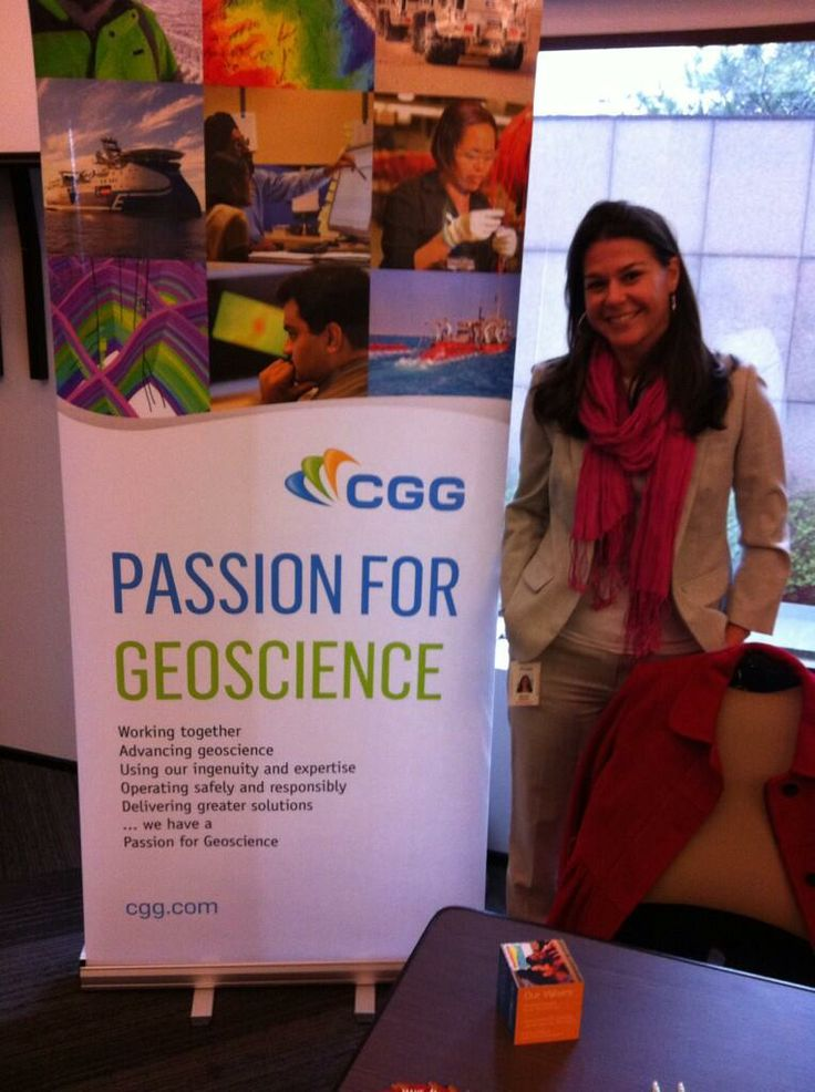 Raquel from CGG at the #CentraleCareerForum