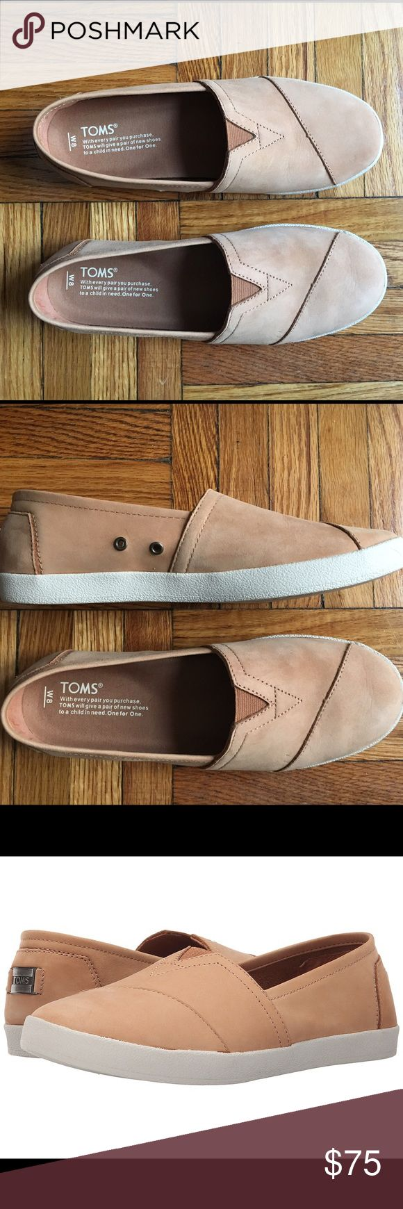 Toms Avalon Slip-On - Sandstorm Nubuck Gorgeous, super soft suede Toms. Only worn once! TOMS Shoes Sneakers
