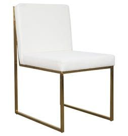 Goldfinger Dining Chair  Contemporary, Industrial, MidCentury  Modern, Art Deco, Upholstery  Fabric, Metal, Dining Chair by Mod Shop