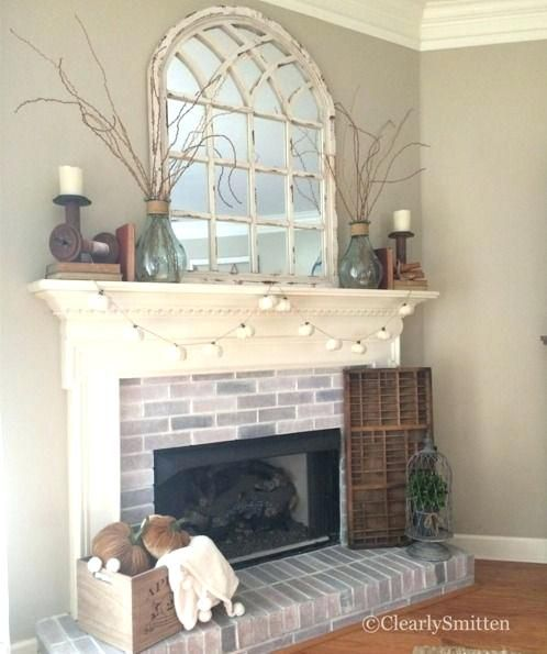 Image Result For Everyday Fireplace Mantel Decorating