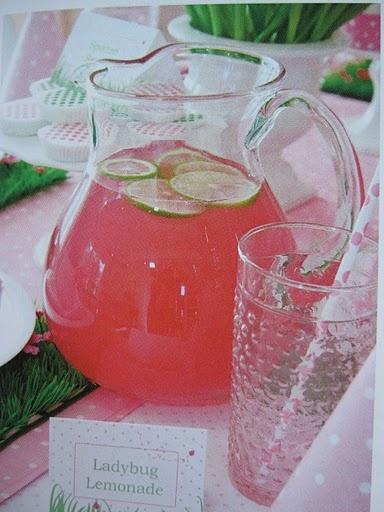 Pink Lemonade for Pink Ladybug Party