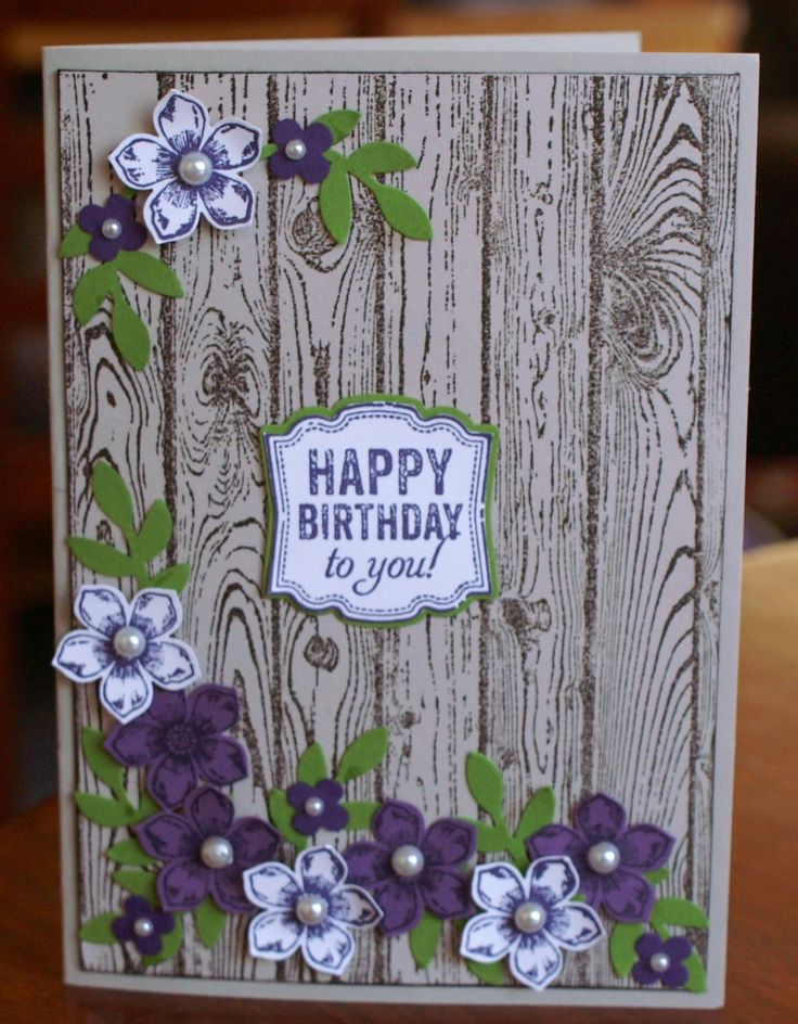Alisons Crafts: Hardwood stamped card